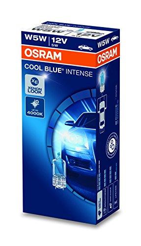 OSRAM COOL BLUE INTENSE W5W Halogen, Kennzeichen-Positionslicht, 2825HCBI, 12V PKW, Faltschachtel (10 Stück)