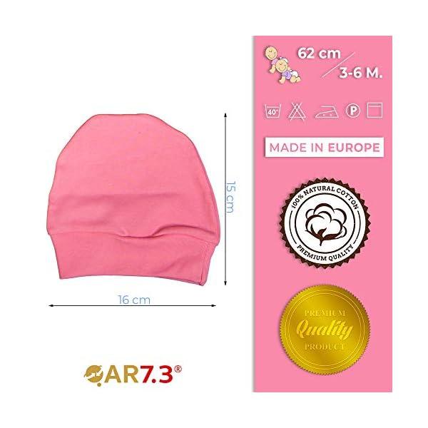 QAR7.3 Completo Vestiti Neonato 3-6 mesi - Set Regalo, Corredino da 5 pezzi: Body, Pigiama, Bavaglino e Cuffietta (Rosa… 6
