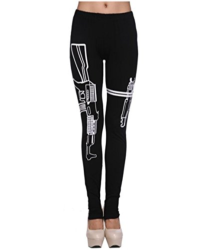 Voglee Women Sportswear Gym Sports Workout Running Yoga Leggings Fitness Pants(One Size, Gun)