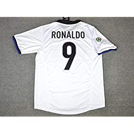 Ronaldo#9 Inter Milan Away Retro Soccer Jersey 1998-1999 Calcio Patch