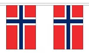 Bandera de Noruega cadena 30banderines de poliéster Material–9m (30') larga