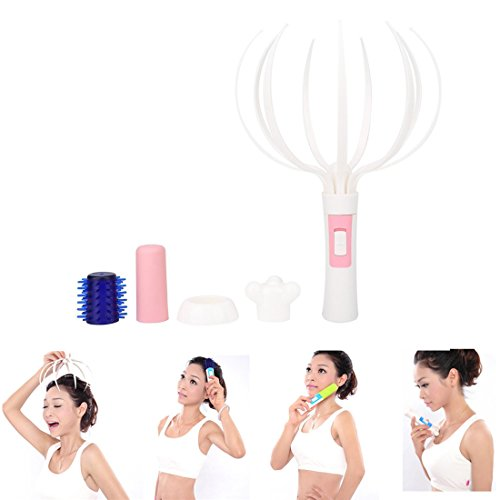Scalp Massager, Electric Scalp Head Massager 4 in 1 Massager Multipurpose Scalp Tool For Relax in Daily Life Utility Household Tool