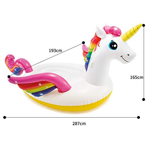 SUN HUIJIE Unicorn Pool Float Party Tube - Inflatable Rafts, Adults & Kids Swimming Pool (Size : 287193165cm) by SUN HUIJIE (Image #1)