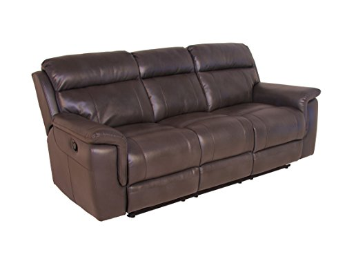 Amazon Com Steve Silver Dakota Faux Leather Reclining Sofa In Dark