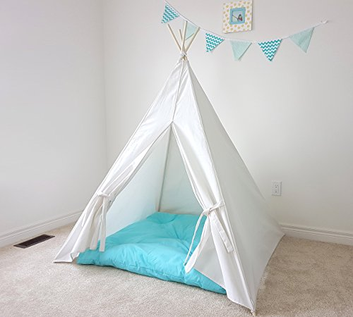 more photos b0025 a47c8 Budget Kids Teepee Tent Plain Speckled Ivory Canvas Princess Teepee Play  Tent Fort Tipi