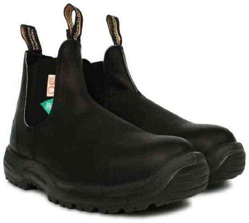 Blundstone 163 Veiligheidsschoen Voor Heren Pull-on Schoen Zwart Zwart
