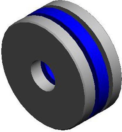 15/16 Nom I.D., 1 9/16 Nom. O.D., .1875 Ball, .427 to .447 Thk., Nylon Ball Retainer Thrust Bearings, Stainless Steel (1 Each)