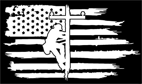 Firehouse Graphics American Flag Lineman Linesman Powerline Technician Vinyl Sticker Decal Distress Pledge of Allegiance Powerline line Powerpole Pole (3