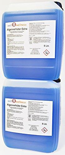 Pool Algenverhüter + Algenvernichter Extra 'BLUE' 10l (2 x 5l) - hochkonzentriert + schaumfrei