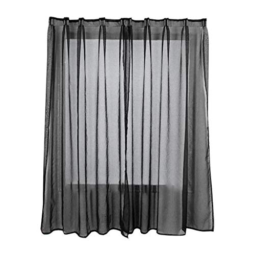 CCatyam Sheer Curtains, Window Curtain, Solid Blocking Treatments Light Panels, Linked Decor Bedroom Kitchen Living Room 2 pcs 1x1.3 M