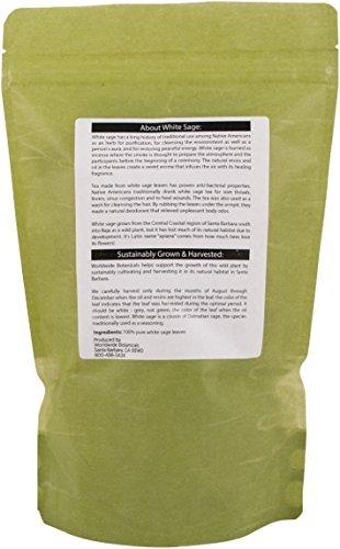 White Sage, California Whole Leaf Clusters, 100% pure, 2 oz