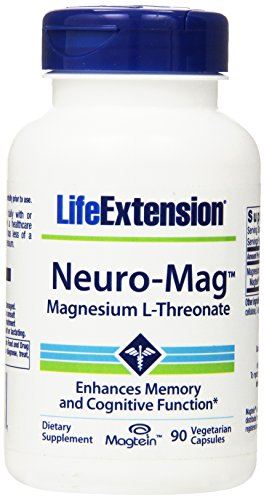 Life Extension Neuro-mag Magnesium L-threonate Dietary Supplements, 90 Capsules, Pack of 1