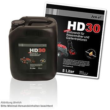 Aceite de motor 5 L Bidón para cortacésped y césped Tractores SAE 30/HD30