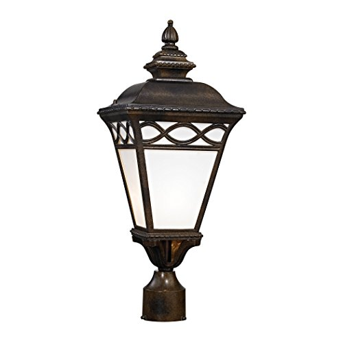 Cornerstone Lighting 8561EP/70 Mendham 1 Light Post Lantern, Hazelnut Bronze by Cornerstone Lighting