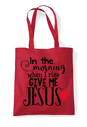 Bag Give Tote Me Shopper Jesus Red t6qBzBZfw