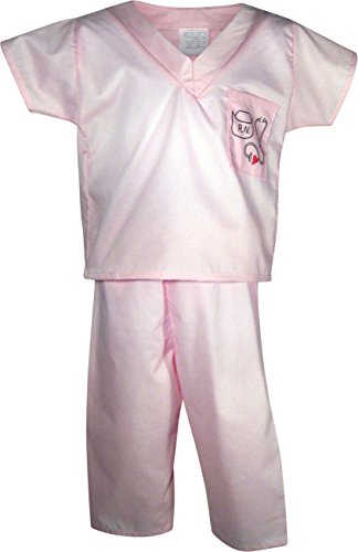 Pink Nurse Scrubs Costume for Dress up and Halloween - Made in the USA Size 4T (Scrub Star Pull On Scrub Pant)
