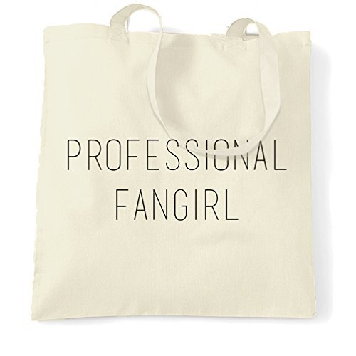 Professional Fangirl Fan Celeb Celebrities Cool TV Infuencers Concerts Episodes Film Cinema Music Girl Boy Love Shopping Tote Bag by Valentine - On Celebs Seen As