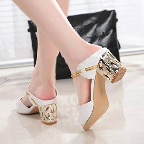 Sandalias de vestir, Ouneed ® Moda mujer Open Toe sandalias ocio verano Flip Flops Blanco