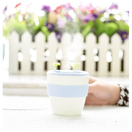 Newest 220ML 2 in 1 Ceramic Anion Potted Plant Humidifier Aromatic humidifier Portable Filter Air Purifiers Ultrasonic USB Powered Humidifier Best Gift For Baby Kids Children