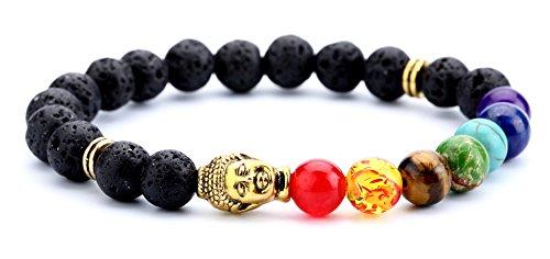 Hamoery Bracelet Elastic Chakra Bangle