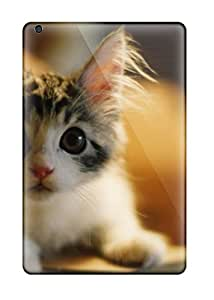 Defender Case With Nice Appearance (adorable Kitty With Big Ears) For Ipad Mini/mini 2 With Free Screen Protector