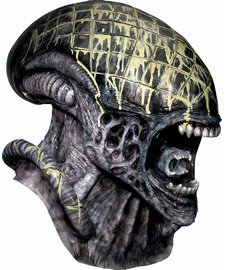 [Rubie's Costume Co Dlx. Alien Ovhd Ltx Mask Costume] (Aliens Costume)