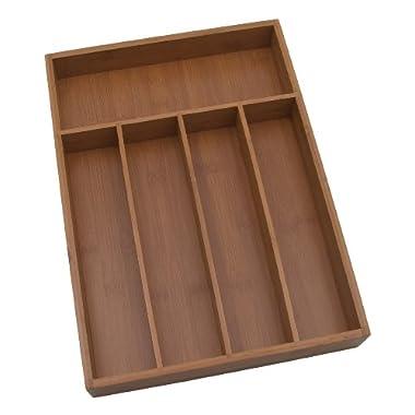 Lipper International 8876 Bamboo Flatware Organizer, 5 compartments, 10-1/4 x 14 x 2 -Inch