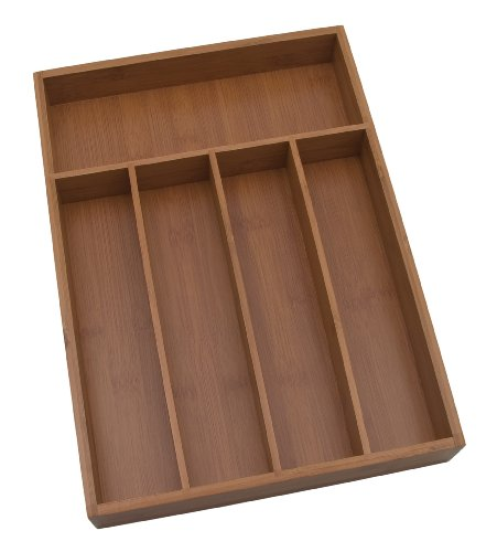 Lipper International 8876 Bamboo Flatware Organizer, 5 co...