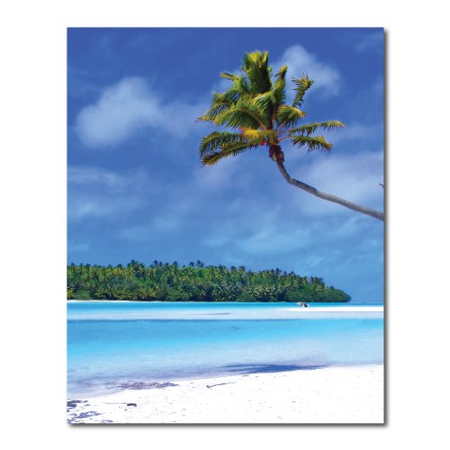 Photo Backdrop - Tropical Beach - 8' x 10' Vinyl Banner Backdrop by VictoryStore