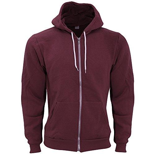 (American Apparel Unisex Flex Plain Full Zip Fleece Hoodie (M) (Truffle))