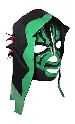 SKELETOR Adult Lucha Libre Hooded Wrestling Mask (pro-fit) - Green]()