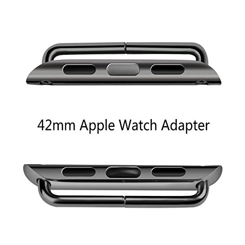 Apple Watch Adapter, Oittm Stainless Steel Apple Watch Band Connection Adaptor with Screwdriver Tools for Apple Watch & Sport & Edition (Space Gray 42mm)