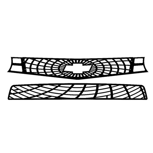 (Ferreus Industries Black Powdercoat Spider Web Grille Grill Insert Trim fits: 2010-2013 Chevy Camaro SS TRK-158-07black)