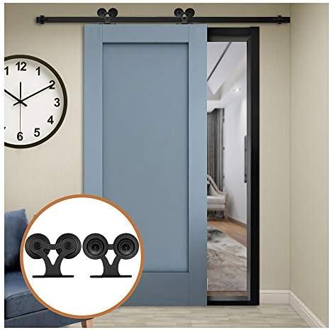 LWZH 6.6FT/200 cm Herraje para Puerta Corredera Kit de Accesorios para Puertas Correderas: Amazon.es: Bricolaje y herramientas