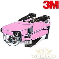 SopiGuard 3M Matte Pink Precision Edge-to-Edge Coverage Vinyl Skin Controller Battery Wrap for DJI Mavic Pro