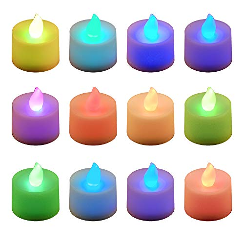 Lumabase 80412 12 Count Color Changing Battery Operated Tea Lights
