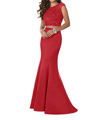 Zwei Damen Teilig Steine Abendkleider Abschlussballkleider Rot Charmant Dunkel Jugendweihe Langes Promkleider Kleider mit RHqwwdgnE
