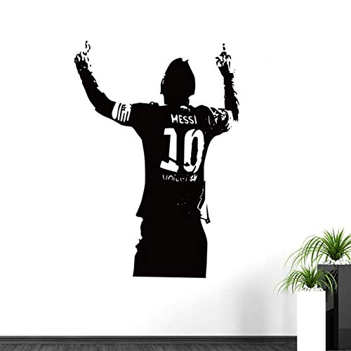 Wall Stickers Decal Removable Vinyl Decal Quote Art Sports Footballer Kids Boys The Year Lionel Messi After Scoring of Cheering Room Wall Decor