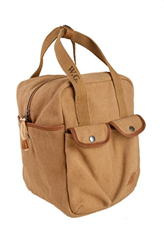 Shoulder Carry Bag in tobacco and sage from Whillas & Gunn by WHILLAS & GUNN
