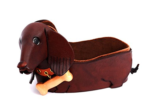 Dachshund Genuiine Leather Animal/Dog Eyeglasses Holder/StandVANCA Handmade in - Dachshund Holder Eyeglass