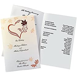 Fall Wedding Programs