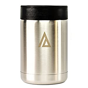 Aspen Stainless Steel Cooler Coozie Koozie Holder for 12 oz Glass Bottle or Beer Can Insulator Beverage Outdoor, Camping Double wall Vacuum Insulated Mug IMPERFECT BOX
