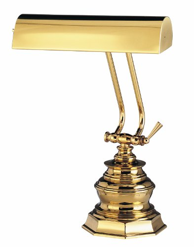 House Of Troy P10-111 14-Inch Portable Desk/Piano Lamp, Polished - 14' Piano Lamp Desk