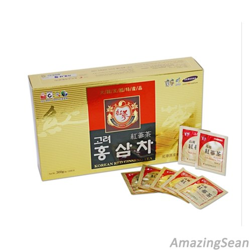 Korea Red Ginseng Tea 100 Bags(300g) Anti-aging & Anti Stress out Korean Ginseng - incensecentral.us