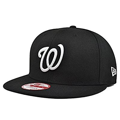 Washington Nationals Black/White SNAPBACK 9Fifty New Era MLB Hat = OSFM