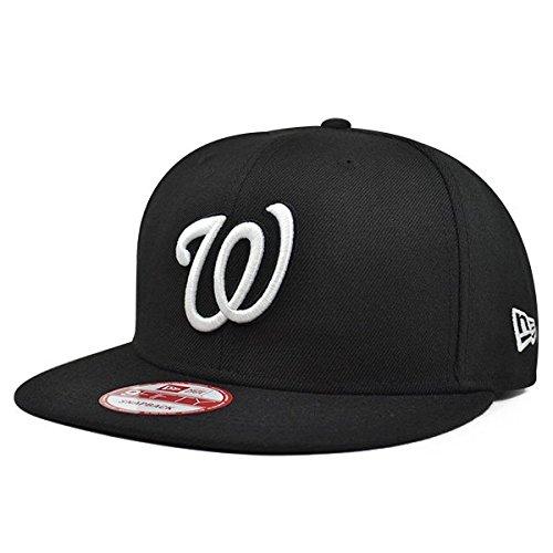 New Era Washington Nationals Black/White SNAPBACK 9Fifty MLB Hat = OSFM