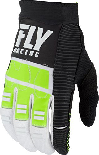 FLY RACING EVOLUTION DST GLOVES HI-VIS/BLACK/WHITE SZ (Evolution Race Gloves)