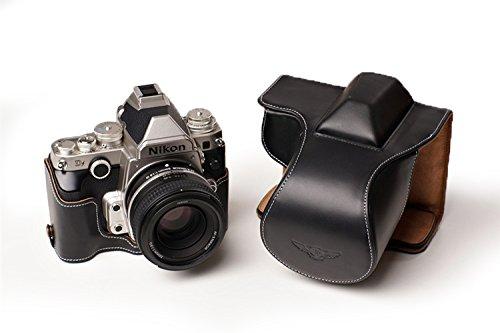 TP Nikon ニコン Df用本革レンズカバー付カメラケース(50mm用) (電池,SDカード交換可) ブラック  レンズカバー付ケース&ストラップTP1881 B01K4PJUGK