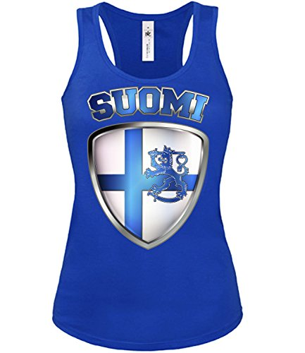 Copa del Mundo de fútbol - Campeonato de Europa de Fútbol - FINNLAND FANmujer camiseta Tamaño S to XXL varios colores S-XL Azul