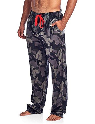 - Ashford & Brooks Men's Mink Fleece Sleep Lounge Pajama Pants - Black/Camo - 3X-Large